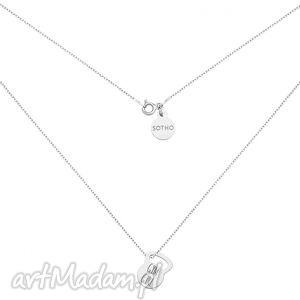 srebrny naszyjnik kettlebell gym girl, modny, kobiecy, minimalistyczny, sportowy