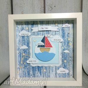 Prezent Metryczka Ahoj Marynarzu! , metryczka, marynarz, łódka, urodziny, prezent