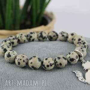 bransoletka z kamienia naturalnego jaspisu, bransoletka, na gumce, koralików