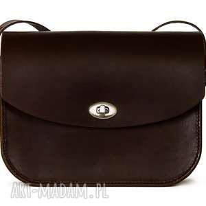 mirons leather goods torebka skórzana piwonia brązowa, torebkiskórzne