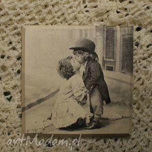 pokoik dziecka obrazek decoupage retro- dama i dżentelmen, dziecięcy, obrazek, obraz