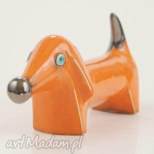 hand-made ceramika pies na biżuterię