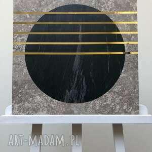 Obraz beton kamień złoto 50x50cm ovo design dekoracja, obraz