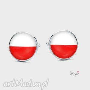 Spinki do mankietów POLSKA FLAGA, patriotyczne, flaga, polskie, symbol, naradowe