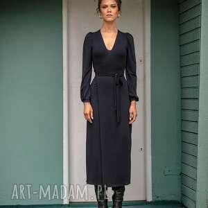 sukienki mila black night - elegancka sukienka, oryginalna, kopertowa