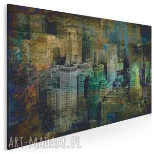 obraz na płótnie - nowy jork vintage 120x80 cm 10401, nyc, ny