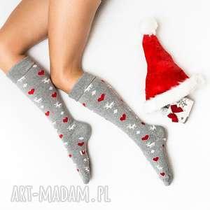 ciepłe świąteczne skarpetki mikołajki prezent zimowe pod choinkę