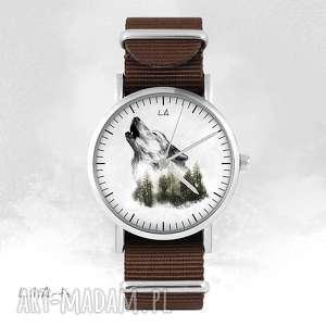 Zegarek - wilk brązowy, nato zegarki liliarts zegarek