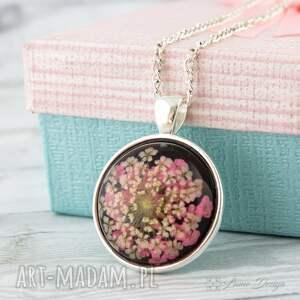 Prezent Medalion z prawdziwym kwiatem, medalion, kwiat, suszony, naturalny, prezent