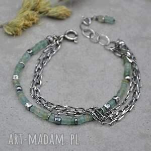 szkło antyczne i łańcuszki srebrna bransoletka 154, antyczne