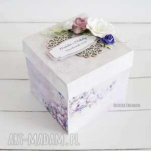 handmade scrapbooking kartki ślubny exploding box