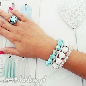 Blue Heaven Set, bransoletki, zestaw, koralikowe, zkoralików