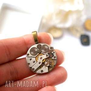 wisior z mechanizmem 3, werk, mechanizm, zegarkowy, industrialny, steampunk, unisex