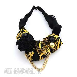 handmade naszyjniki black & gold naszyjnik handmade
