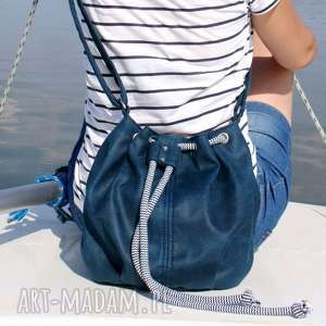 mini sak vegan morski sznurek, torba, torebka, vegan, marine, morski, sznurek na