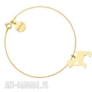 sotho złota bransoletka z psem rasy mops - zwierzak, pupil, rasa, pies