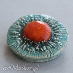 siŁĄ-broszka ceramiczna - dodatek, upominek, prezent, pomysł, urodziny