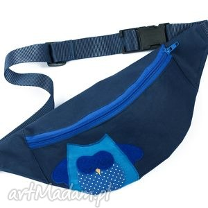 Nerka saszetka - sowa (niebieska) - ,sowa,niebieska,wygodna,wyjątkowa,wodoodporna,