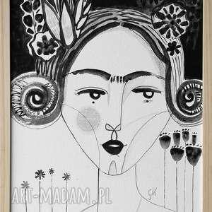 obraz 30x40 akryl na płótnie - twarz, obraz, ręcznie, malowany, nowoczesny