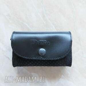 Skórzana portmonetka mini czarna portfele tenaro skórzana, mini