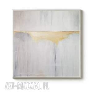 abstrakcja ze złotem-obraz akrylowy formatu 60/60