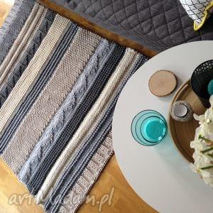 dywan patchwork wariacja nr2, handmade, naturalny, bawełna