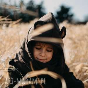 Komin z kapturem dla dziecka - MIŚ, miś, misio, niedźwiedź, ziwerzę, uszy, jesień