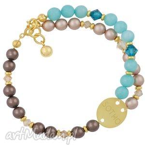 ręcznie wykonane bransoletki bransoletka z jadeitu, pereł i kryształów swarovski® elements
