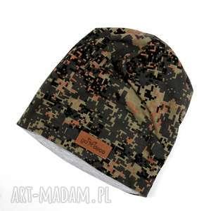 Czapka kolorowa wojskowa moro pixel, czapka, wojskowa, moro, kolorowa, beanie