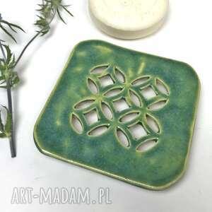 ceramika ceramiczna mydelniczka orient-kwadrat, polskie rzemiosło, polska