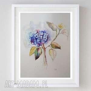 kwiaty -akwarela format 24/32 cm, abstrakcja, papier, kwiaty, akwarela