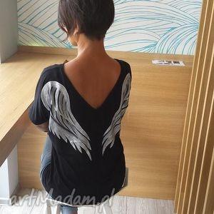 bluzka skrzydła black angel, skrzydła, bluzka, dekolt, anioł, malowanka, onesize
