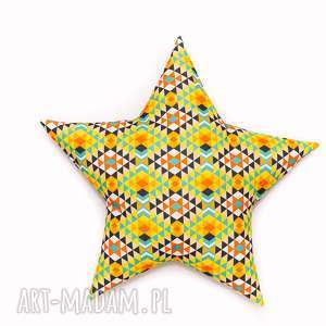 pokoik dziecka poduszka gwiazdka - azteki jasne, poduszka, gwiazdka, star