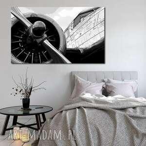 obraz xxl samolot 1 - 120x70cm na płótnie duży - obraz, samolot, lotnictwo