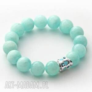lavoga jade with bead in mint - jadeit