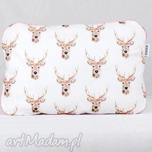ręcznie zrobione pokoik dziecka płaska poduszka do łóżeczka jelenie