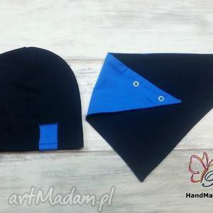 ręcznie zrobione czapki komplet czapka trójkąt (apaszka, chustka)