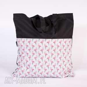 wyjątkowy prezent, flamingi, siatka, torba