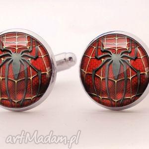 pająk - spinki do mankietów, superbohater, spinki, spider, pająk, filmowe