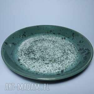 wyjątkowy prezent, talerz zielony, talerz, ceramika, rękodzieło, glina