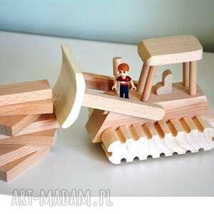 Spychacz drewniany pokoik dziecka wooden love spychacz, pojazd