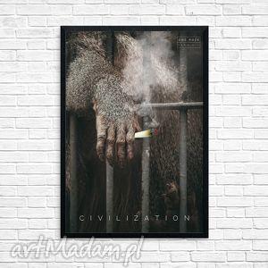 grafika w oprawie civilization, grafika, małpa, joint, cywilizacja, prezent