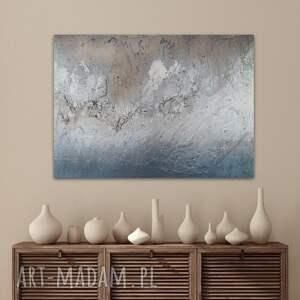 obraz ręcznie malowany na płótnie 65 x 93, farby akrylowe, struktura