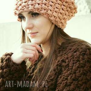 czapka #35, czapa, grubyścieg, masywna, gruba, nadrutach, merino, wyjątkowy prezent