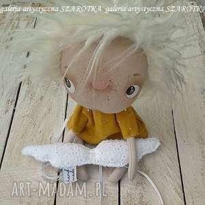 dekoracje aniołek lalka - dekoracja tekstylna, seria cute angel, ooak