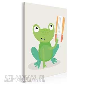 obraz na płótnie - dziecięcy zwierzę żaba 50x70 cm (80202)
