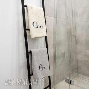 drabinka ozdobna do łazienki wieszak na ręczniki - drabina, drabinka, wieszak