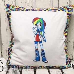 Poduszka z haftem 40x40cm Rainbow Dash, rainbowdash, rainbow-dash, kucyk, kucyki