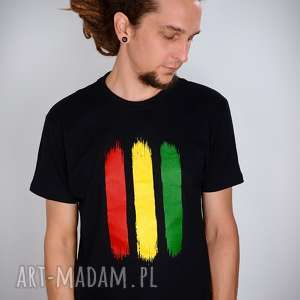 koszulki koszulka czarna rasta - męska, rasta, reggae, jamajka, t shirt, dready