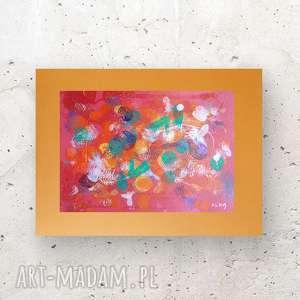 abstrakcja na ścianę, nowoczesna dekoracja ścienna, oryginalna